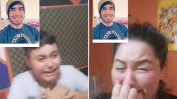 Video: Esta mamá tiktoker le hizo una broma a su hijo y no contaba con que terminara llorando