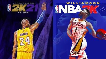 Los estrellas que adornaron las recientes portadas del NBA 2K   Estas son las últimas 10 portadas que han adornado el espectacular videojuego del deporte ráfaga.    NBA 2K21   Kobe Bryant y Zion Williamson aparecerán en la portada para la próxima generación de consolas.