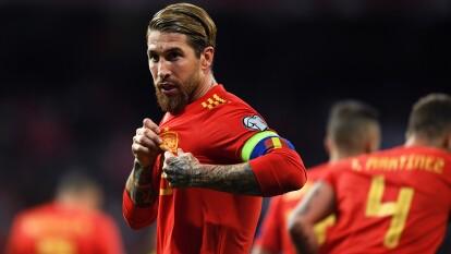 Sergio Ramos con España: 170 partidos