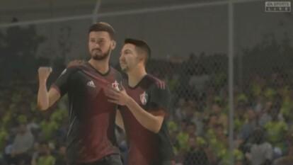 En el futbol virtual, Atlas goleó 4-1 a la escuadra fronteriza que se perfila a la 'fiesta grande' de las consolas.