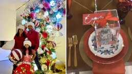 Además de su asombroso árbol, los Derbez presumen la elegante vajilla con la que cenarán en Navidad