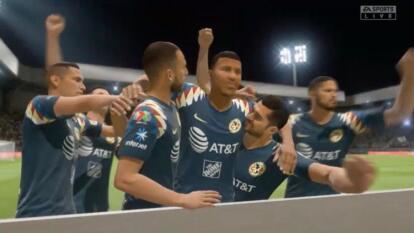 Las Águilas de Giovani dos Santos vencieron 2-4 a Pachuca y aseguran un puesto en la Fiesta Grande' de la eLiga MX.