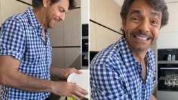 '¿Fue mucha presión o qué?': Eugenio Derbez se anima a lavar los trastes y estrena show desde su casa