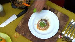 Cocina chef Arturo Fernández Fideos secos