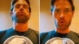 Video: Sebastián Rulli se relajó tanto que hasta el 'pun' se le salió