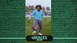 ¡Crack! Marcelo domina un balón de futbol americano