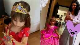 Kailani se transforma en una hermosa princesa y enternece luciendo esponjoso vestido rojo