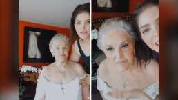 Labial, sombras y hasta pestañas: Ana Bárbara maquilla a su mamá y la deja realmente bella