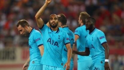Lucas Moura marcó un golazo en el Olympiakos 2-2 Tottenham de la Champions League