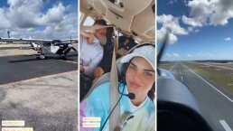 Livia Brito presume su viaje en avioneta y recuerda con nostalgia cuando protagonizó 'La piloto'