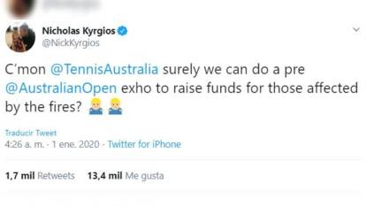 El 'Bad Boy' causó una revolución en redes sociales y el tenis asutraliano se volcó en apoyo para las donaciones.