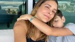 '¡Ya está conmigo!': Así fue el emotivo reencuentro entre Grettell Valdez y su hijo Santino