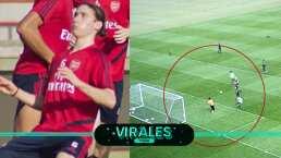 ¡Definió como Messi! Marcelo Flores anota golazo con el Arsenal