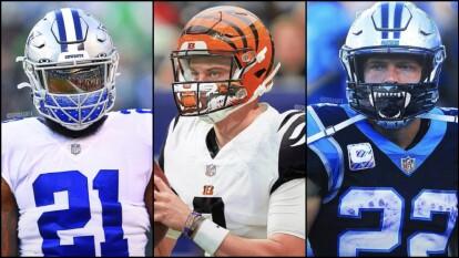 Si la National Football League se ve obligada a usar cubrebocas, los jugadores se visualizarían de esta manera.