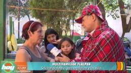 ¡Así viven niños del Multifamiliar de Tlalpan tras el sismo!