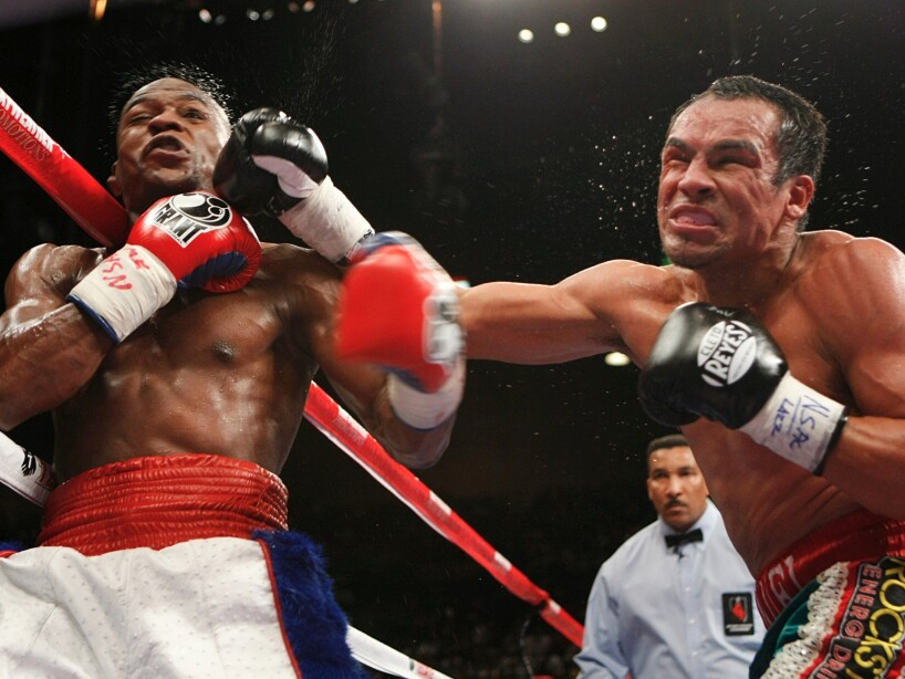 Floyd Mayweather and Juan Manuel Marquez