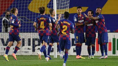 Barcelona despachó al Leganés y se acerca a la conquista de La Liga | En el Camp Nou, los blaugranas derrotaron 2-0 a los pupilos del 'Vasco' Aguirre con goles de Ansu Fati y Messi.