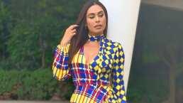 Así como Galilea Montijo, atrévete a usar vestidos geométricos y coloridos