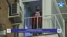¡VIP! Afición del Rayo Vallecano alienta desde su casa ante el Barça