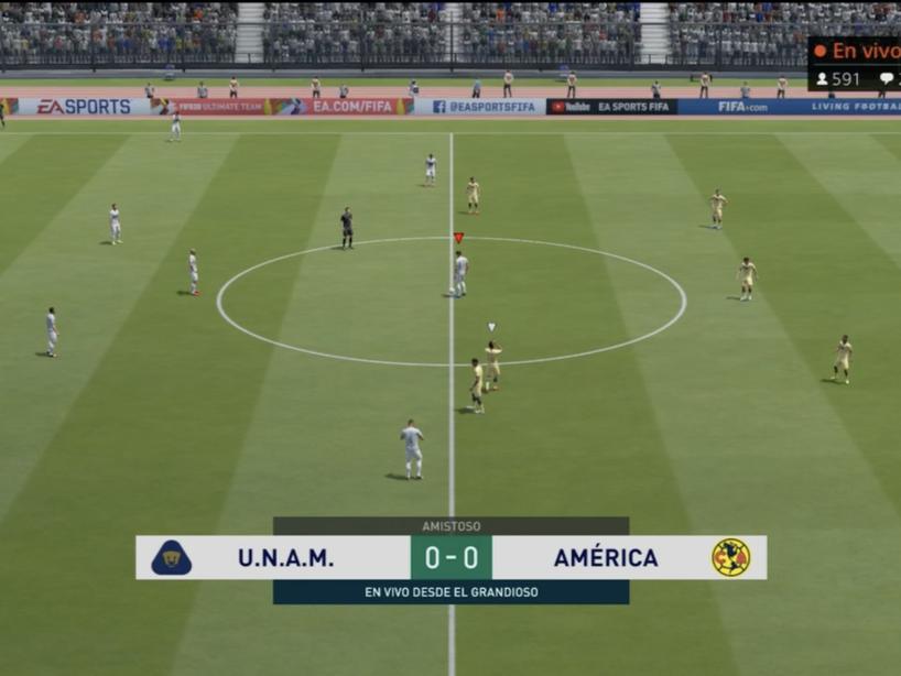 Pumas vs América, eLiga MX, 6.png