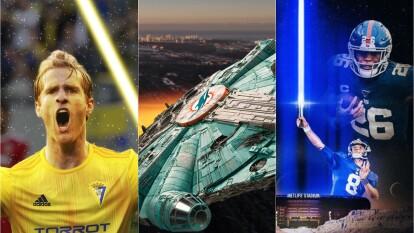 Los clubes conmemoran este día y muestran su pasión por la saga de Star Wars con imágenes especiales.