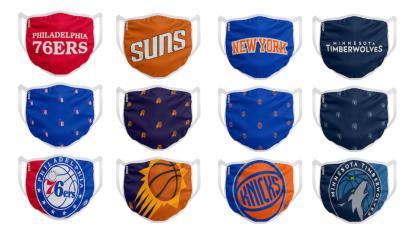La NBA y la WNBA lanzan a la venta cubrebocas durante la pandemia del COVID-19.