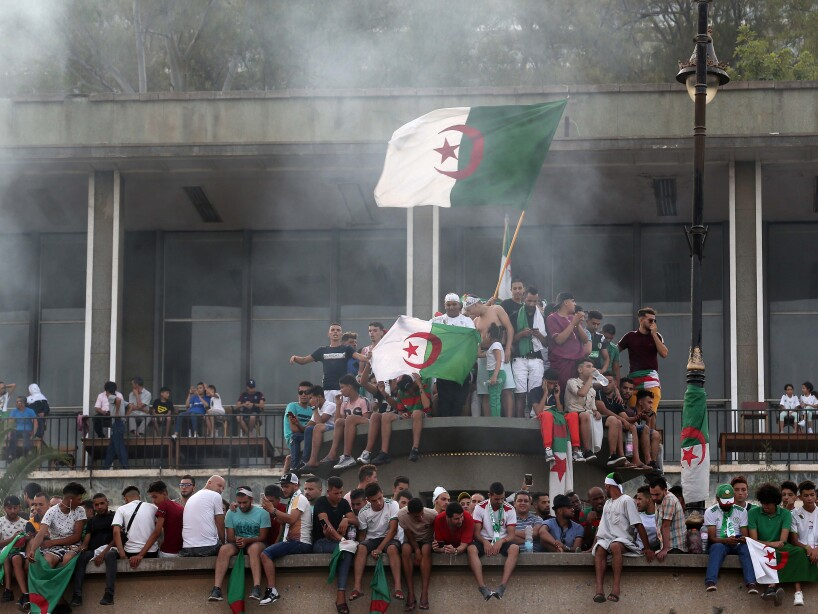 Football Fans Celebrating Algeria's AFCON 2019 Victory