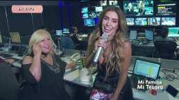 """Andrea Escalona sorprende a su mamá con una serenata en la cabina del programa """"Hoy"""""""