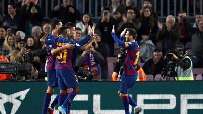 Con doblete de Lionel Messi, gol de Antoine Griezmann, Clément Lenglet y Arthur Melo, Barcelona golea en casa al Legnés y avanza en la Copa del Rey.