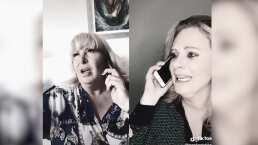 Video: Erika Buenfil aparece 'llorando' en llamada telefónica al lado de Magda Rodríguez