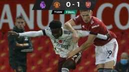 Aubameyang le da el triunfo al Arsenal en Old Trafford