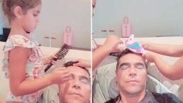 Esposo de Jacky Bracamontes es víctima de sus hijas y termina maquillado por ellas (VIDEO)