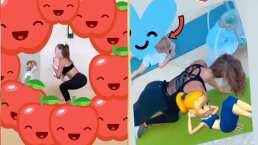 """""""Gracias a Dios porque estamos juntos"""": Anahí crea lazos de confianza haciendo yoga con sus hijos"""