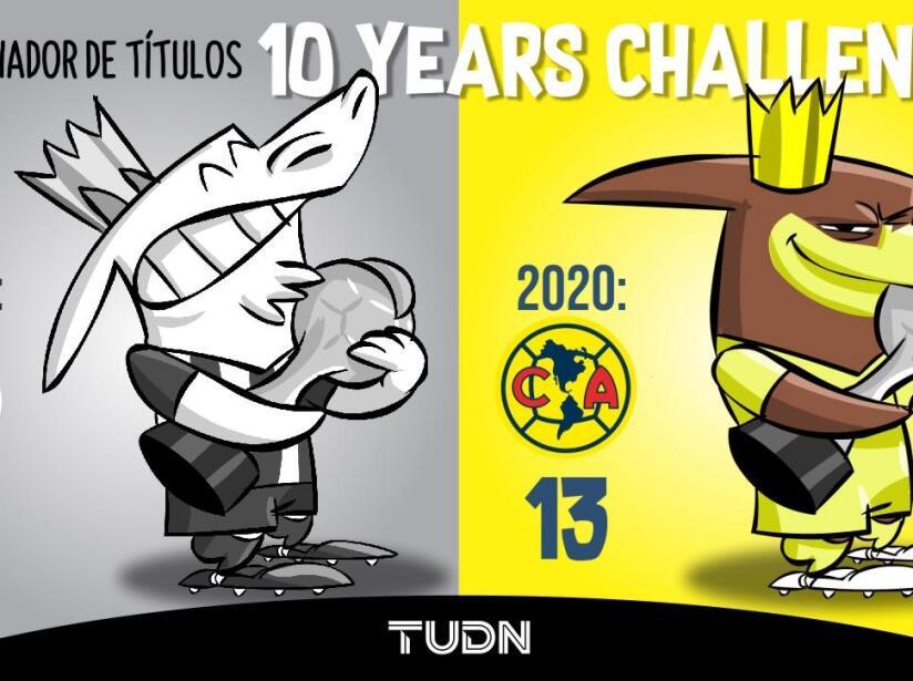 10 years challenge Chivas y América.
