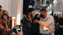 Sebastián Yatra recibió pastelazo de Ricky Martin en su cumpleaños