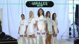 Kenti Robles 'modela' camiseta del Real Madrid junto a Sergio Ramos