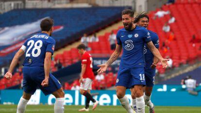 Chelsea despachó a Manchester United 1-3 para llegar a la final de la FA Cup   Los 'Red Devils' no metieron las manos en la derrota 1-3 por el pase a la gran final en Wembley.