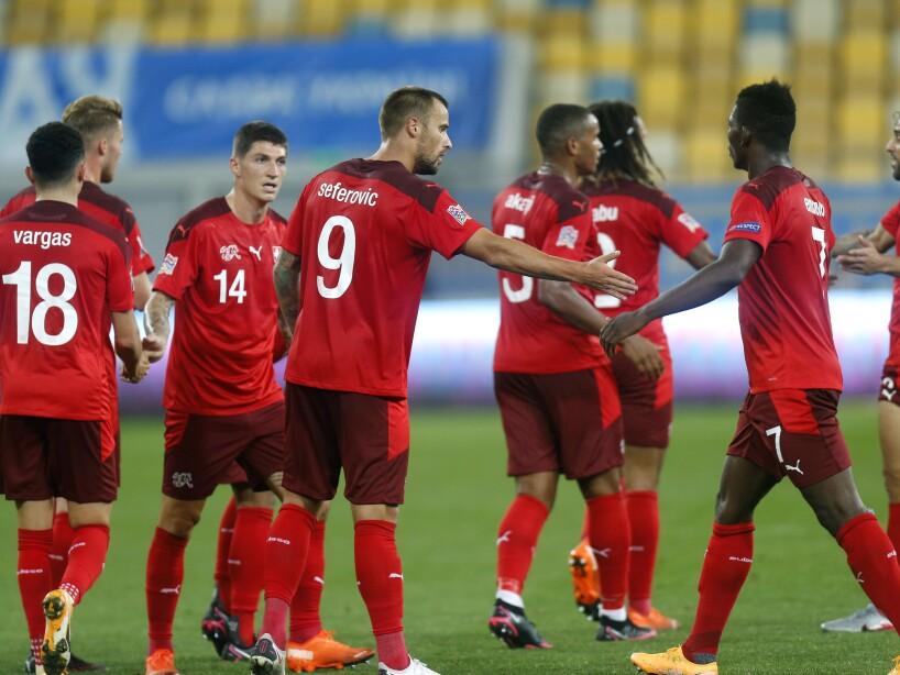 Ukraine Switzerland Nations League Soccer