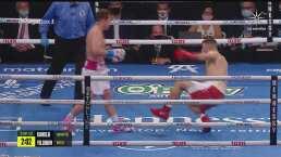 Round 3: ¡Se salva del KO! 'Canelo' hace tambalear a Avni Yildirim