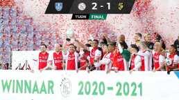 ¡Machín! Edson Álvarez celebra segundo título con Ajax al ganar la copa