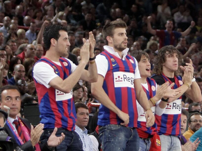 Sergio Busquets, Gerard Pique, Bojan Krkic, Carles Puyol