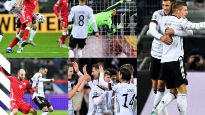Con goles de Matthias Ginter (41), Leon Goretzka (49) y Toni Kroos (55, 83), Alemania golea y consigue su boleto a la Euro 2020.