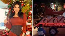 Al estilo de Disney, Kimberly Flores presume el espectacular desfile de Navidad en su colonia