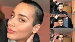Esmeralda Pimentel se rapó toda la cabeza y comparte el proceso de su drástico cambio de look