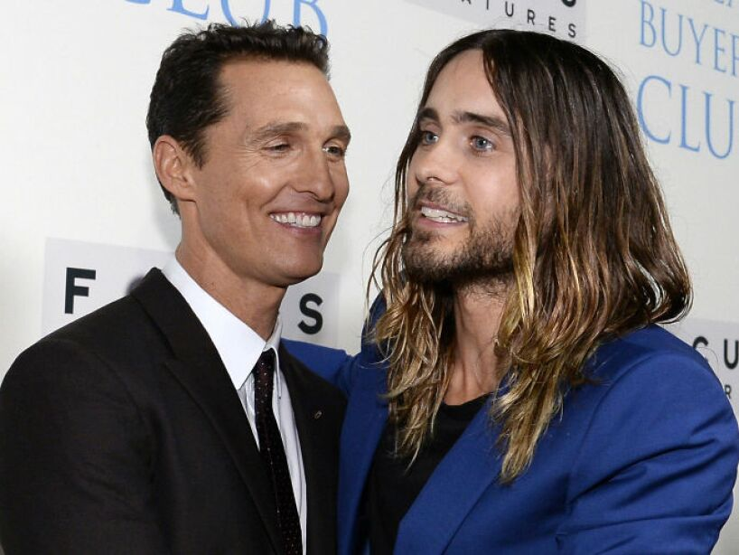 20. Matthew McConaughey y Jared Leto: Los protagonistas de Dallas Buyers Club son amigüísimos.
