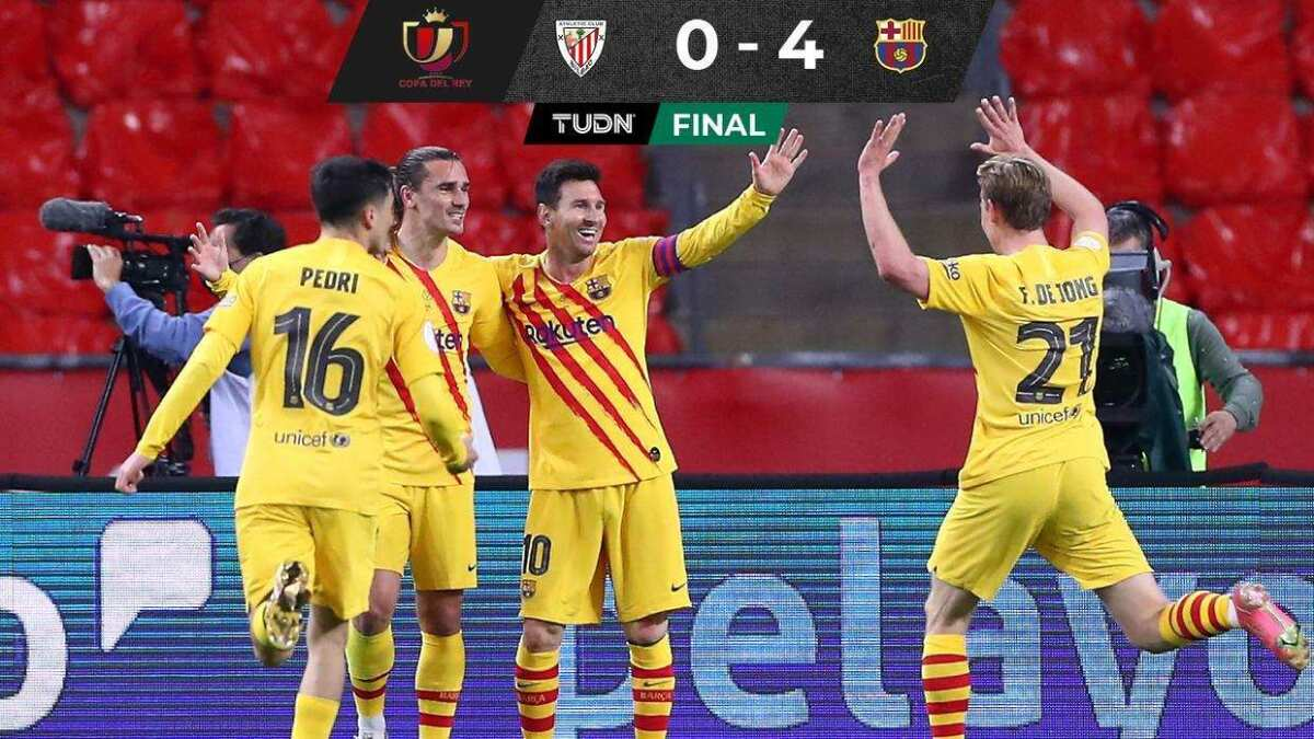 Barcelona se corona en la Copa del Rey con doblete de ...