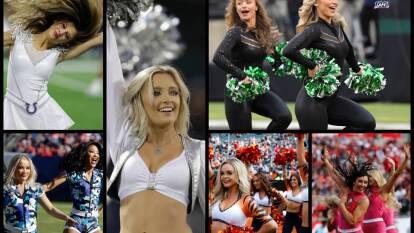 Las cheerleaders ponen el ambiente en los juegos de futbol americano con sus porras y coreografías.