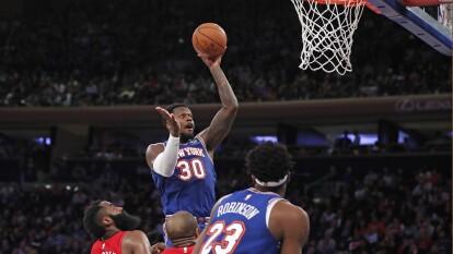 Te dejamos todos los resultados de la jornada en la NBA, comenzando por el apretado triunfo de los Knicks 125-123 a los Rockets.