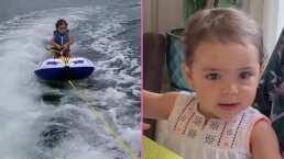 """""""Pauli, esquÍas padrísimo"""": Hija de Jacky Bracamontes demuestra que es toda una aventurera, como su papá"""