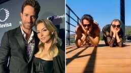 Angelique Boyer desafía a Sebastián Rulli con reto viral de equilibrio y él casi se golpea la cara al intentarlo